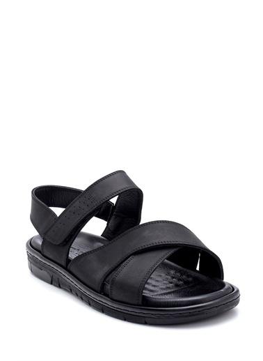 Derimod Erkek Nubuk Bantlı Sandalet Siyah